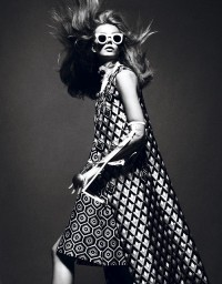 Fashiontography: Frida Gustavsson by Mert & Marcus | Back to the Future