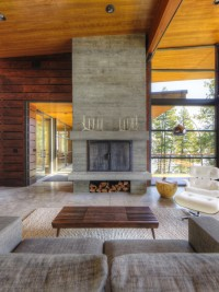 Coeur D'Alene Residence on Lake Coeur D'Alene - modern - Living Room - Other Metro - Uptic Studios