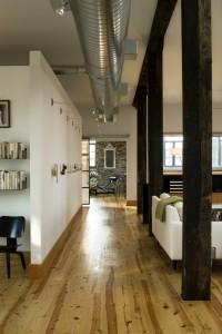 Loft living room/art wall - modern - Living Room - St Louis - Studio Durham Architects