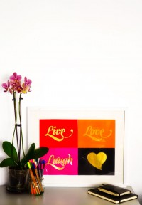 Gold Typography Wall Art Tutorial