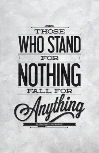 Stand For Something | Typography Poster on Inspirationde