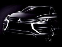 Mitsubishi previews Outlander PHEV Concept-S - Design Sketch