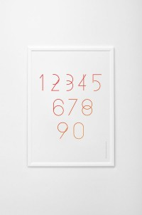 Modern number typeface on
