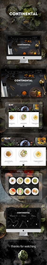 Web site for Continental restaurant on Inspirationde