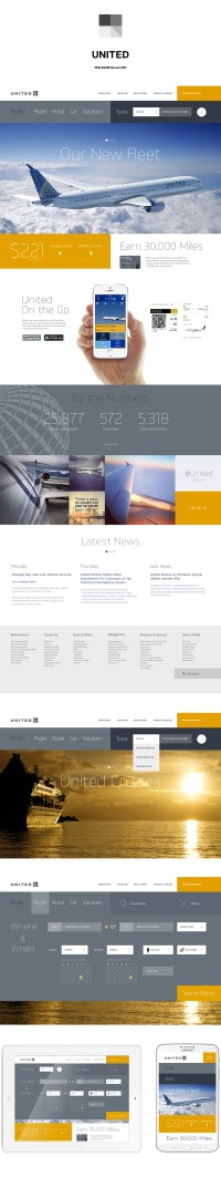 United Airlines Website Redesign on