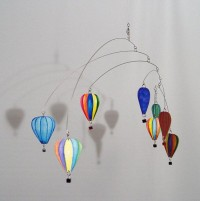 Hot Air Balloon Kinetic Hanging Mobile Art Made With by skysetter