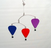 Baby Hot Air Balloon Mobile Kinetic Hanging Mobile by skysetter