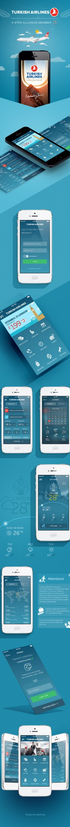 Turkish Airlines App Redesign Concept on