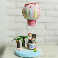 Beach theme cake topper Decoration Let us fly to by annacrafts