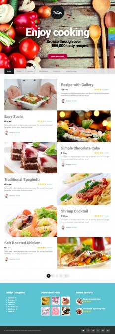 Talisa – Food Recipes Wordpress Theme on Inspirationde
