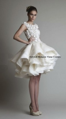 Avant-Garde Classic Hip Modern Modest Romantic Ball Gown Cap Sleeve City Country Flowers Garden Lace Modern Space Museum Natural Organza Scoop Short Tulle Wedding Dresses Photos & Pictures - WeddingWire.com