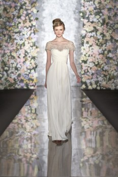 Formal Modern Romantic Ivory White $$ - $701 to $1500 A-line Beading Cap Sleeve Floor Martina Liana Natural Off-the-shoulder Ruching Silk Spring Summer Sweetheart Wedding Dresses Photos & Pictures - WeddingWire.com