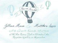 Hot Air Balloon Invitation & RSVP Cards Printable by owlthousand