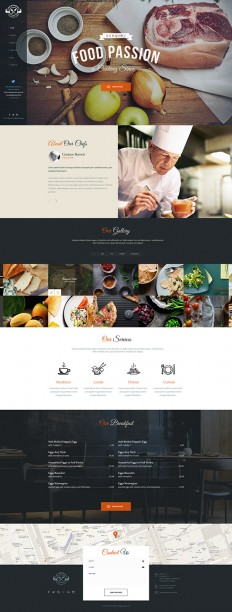 The Gourmet – Food WP Skin & Theme on Inspirationde
