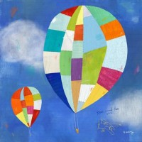 Hot Air Balloon Ride Print by twoems on Etsy