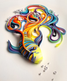 Vibrant Quilled Paper Illustrations and Sculptures by Yulia Brodskaya | Colossal