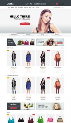 Astra – Responsive Multi Purpose Magento theme on Inspirationde