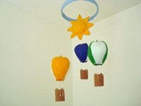 Hot Air Balloon Mobile by ALittleWorld on Etsy