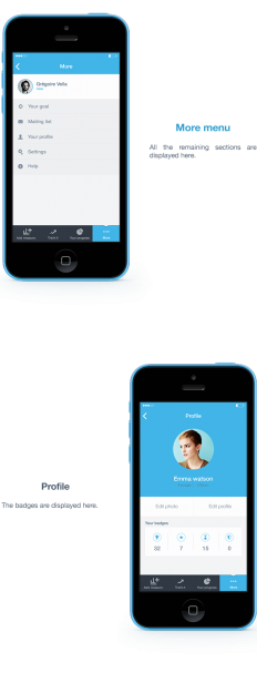 Bodytrack.it - An iOs app - Branding, UX and UI on