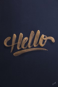 Golden lettering / collection '13 on Inspirationde