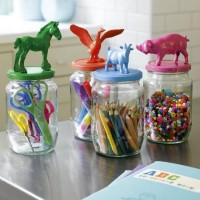 DIY / animal toppers for jars