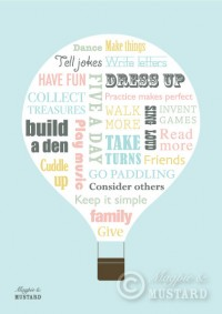 A3 Hot Air Balloon Manifesto Print by MagpieandMustard on Etsy