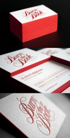 Business Cards / Red Letterpress Cards | Business Cards Observer