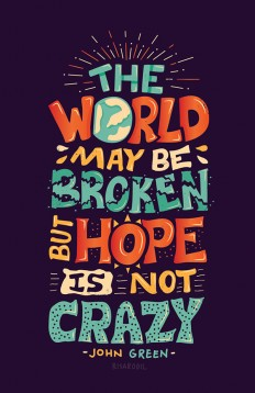 Hope is Not Crazy Poster by John Green & Vlogbrothers on Inspirationde