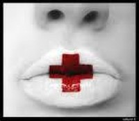 red cross on lips - Google Search