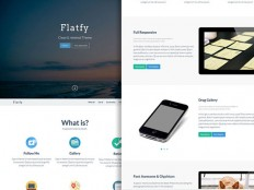 Flatfy – Flat & Minimal HTML Template - FreebiesXpress