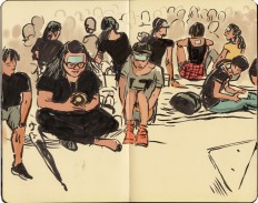 Front Line-Drawings From Hong Kong's Umbrella Revolution — Matter — Medium