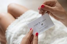DIY / DIY Transparent Business Card Holder