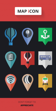 Map Flat Icon (Freebie) on