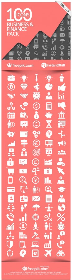 [Freebie] FinBiz Icon Set: 100 Free Business & Finance Icons | InstantShift