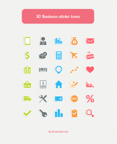 Freebie: 30 Business Sticker Vector Icons - Dreamstale