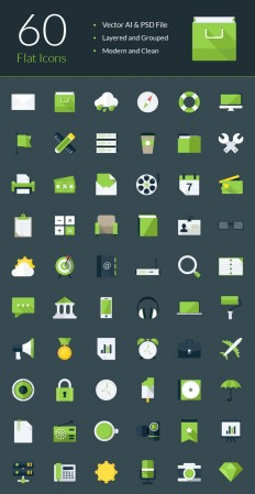 Modern Flat Icons - graphberry.com