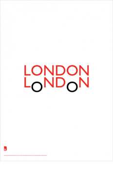 "The ""LONDON LoNDoN"" poster is designed by Quentin Newark of Atelier Works. on Inspirationde"