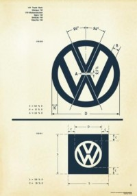 Designspiration — Recreated-Vintage VW Logo Specification Poster For Download | your creative logo designer