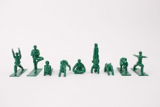 Yoga Joes: Plastic Green Soldiers Practicing Yoga | Colossal