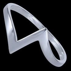 Zig-Zag Silver Ring