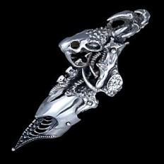 Cobra Armor Silver Ring For Men