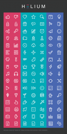 Freebie: Helium Icon Set (AI, EPS, SVG, Icon Font) | Codrops