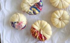 Learn to Make Nail Polish Marbled Pumpkins