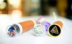 DIY Creative Wedding Kaleidoscope Escort Cards