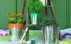 How to Turn Paint Can into Planter