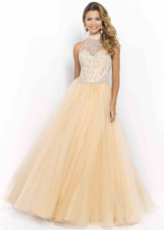 Champagne Illusion Halter High Neck Corset Beaded Ball Gown [Blush 5401 Champagne] - $188.00 : Buy Cheap Prom Dresses Online,Homecoming Dresses For 2015