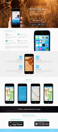 UIBrush App Landing Page Free PSD Template - UIBrush