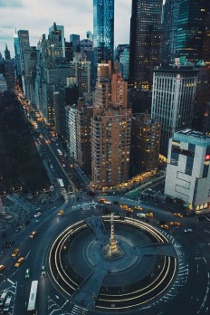 "Columbus Circle & Central Park South. Photo by Jose ""Tutes"" Tutiven on Inspirationde"