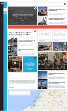 Functional and visual redesign of Google News on