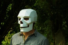 Skull mask easy to make and perfect for Halloween by Wintercroft